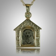 Dog House Locket Cremation Pendant III