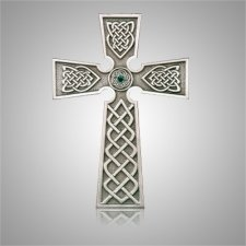 Irish Cross with Stone Silver Medallion Appliques
