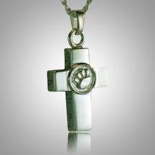 Cross Paw Print Memorial Jewelry III