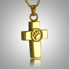 Cross Paw Print Memorial Jewelry II