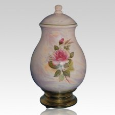 Tivoli Pink Ceramic Cremation Urn