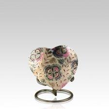 Lattice Keepsake Heart Cremation Urn