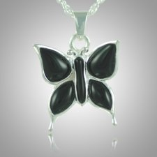 Butterfly Onyx Cremation Jewelry