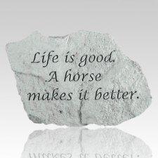 Life Is Good Memorial Stone