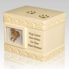 Dog Paw Print Cremation Urn