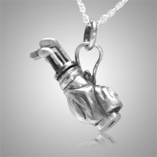 Golf Clubs Keepsake Pendant III