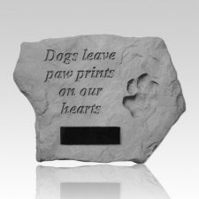 Dogs Leave Paw Prints Personalized Rock