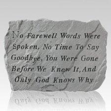 No Goodbye Pet Memory Stone