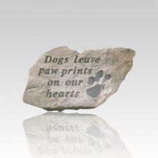 Dogs Leave Pawprints Stone