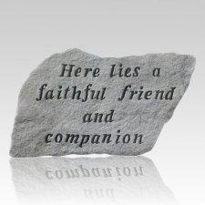 Here Lies A Faithful Friend Stone III