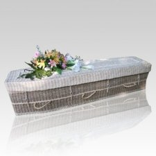 Ivory Seagrass Green Casket