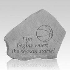 Life Begins Basketball Rock