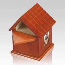 Dog House Picture Cremation Urn
