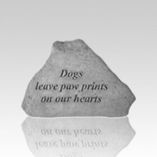 Dogs Leave Pawprints Grave Stone