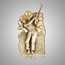 Tee Time Golfer Medallion Appliques