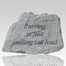 Purring Is Just Smiling Memorial Stone