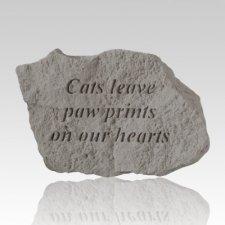 Cats Leave Paw Prints Rock