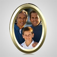 Large Gold Oval Picture Frame