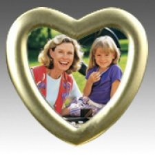 Heart Gold Picture Frame