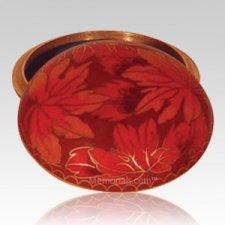 Fall Leaf Cloisonne Jewel Dish