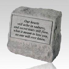 Our Hearts Still Ache Cremation Headstone