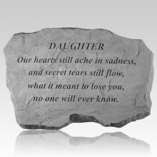 Daughter Our Hearts Still Ache Stone