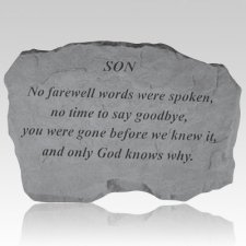 Son No Farewell Words Stone