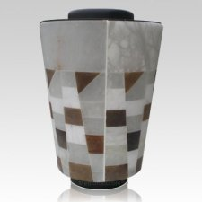 Alabaster Mosaic Cremation Urn