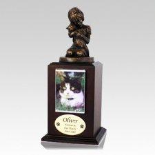 Always My Kitty Walnut Cremation Urn