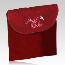 Angel Burgundy Cremation & Burial Pocket - Large