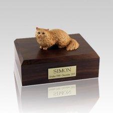 Angora Brown Medium Cat Cremation Urn