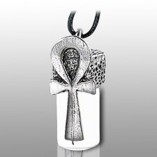 Ankh Pet Cremation Necklace Urn