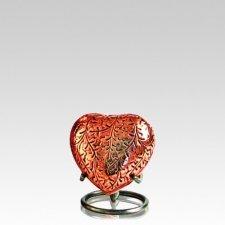 Antique Copper Heart Keepsake Urn