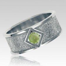 August Birthstone Sterling Silver Ring Print Keepsakes