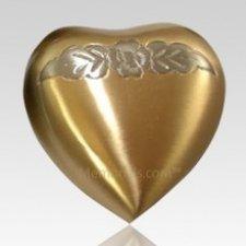 Avalon Bronze Heart Keepsake Cremation Urn