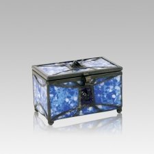 Azure Cathedral Glass Small Memory Chest