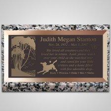 Best Friends Dog Bronze Plaque