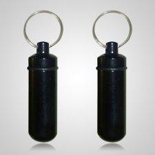 Black Cremation Keychains