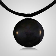 Black Spot Cremation Ash Pendant