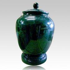 Black Green Classic Granite Cremation Urn