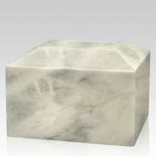 Blanco Square Marble Cremation Urn