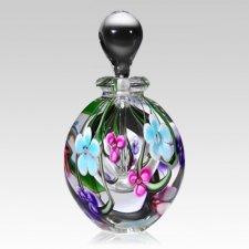 Blue & Clear Flower Keepsake Urn