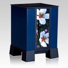 Blue & Cherry Medium Cremation Urn