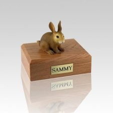 Brown Small Rabbit Cremation Urn