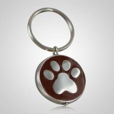 Brown Paw Cremation Keychain