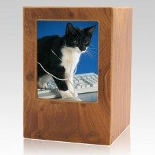 Natural Pet Large Photo Wood Urn