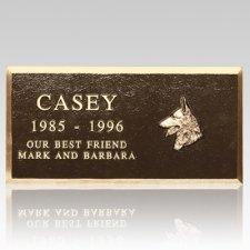 Cast Bronze Large Pet Headstone