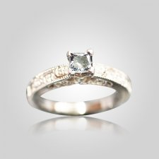 Cathedral Ring With Accent Diamonds