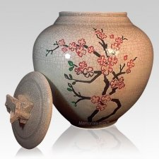 Cherry Blossom Cremation Urn
