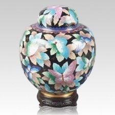 China Butterfly Cloisonne Keepsake Cremation Urns